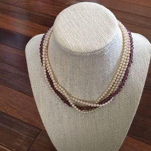 Vintage pearl and bead necklace